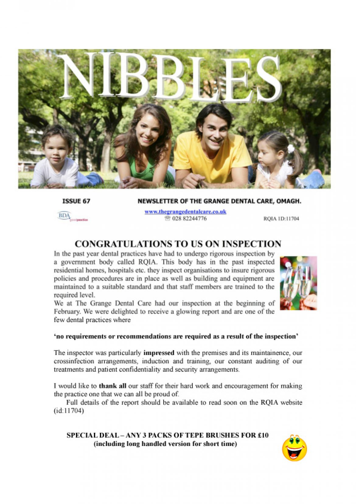 Nibbles Newsletter Issue 67