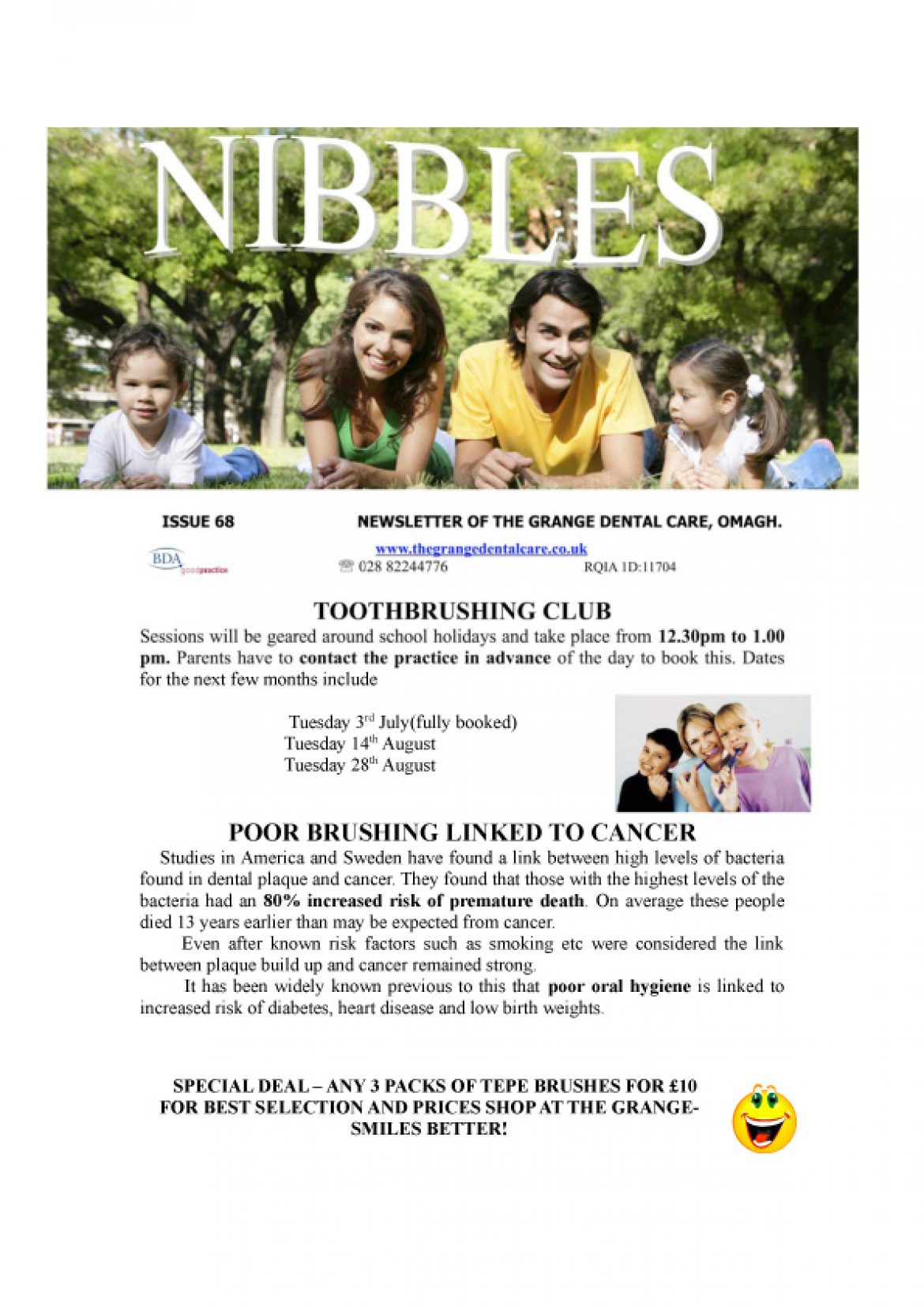 Nibbles Newsletter Issue 68